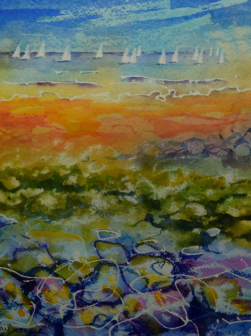Sun, Sails and Seaweed Painting