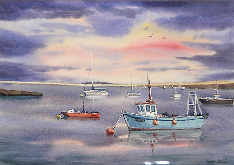Painting of Orford Quay, Suffolk