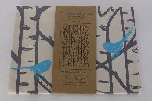 Tea Towel - Silver Birch (blue)