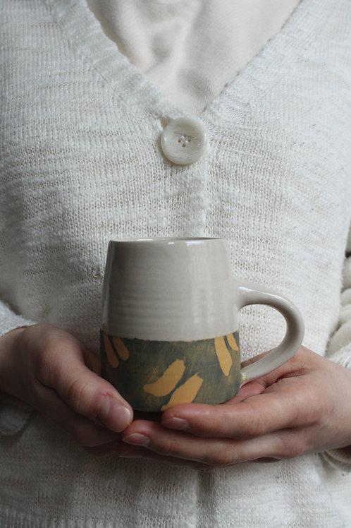 Ochre Brush - Small Stoneware Mug