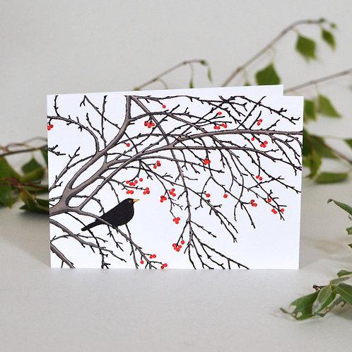 Card Winter Berries