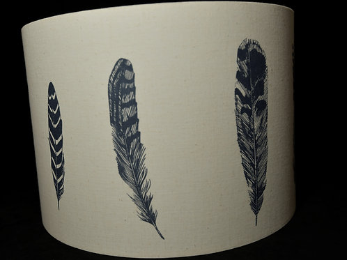 Lampshade - feather by Lottie Day