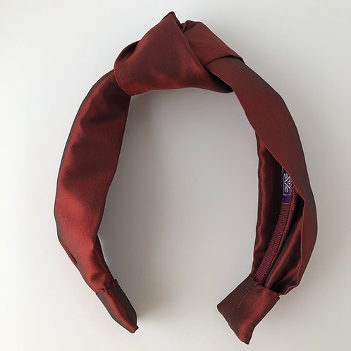 Rust Silk Headband