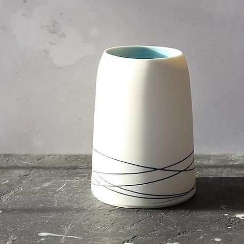 Porcelain Vase, black slip