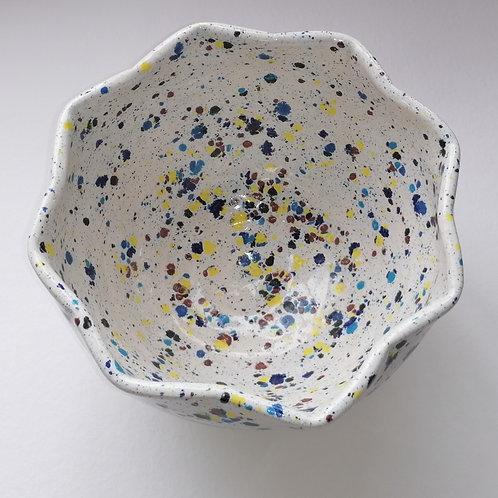 Octagonal Bowl 'Confetti' Glaze