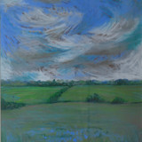 Linseed Field Suffolk Painting