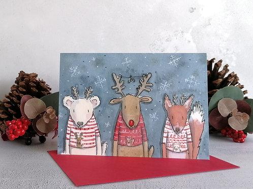 Christmas Jumpers Greetings Card