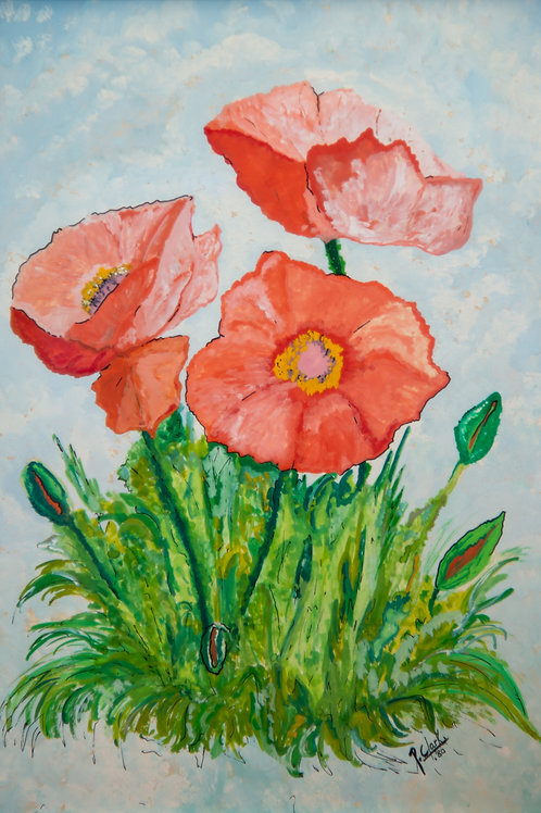 Three poppies by Peter Clark