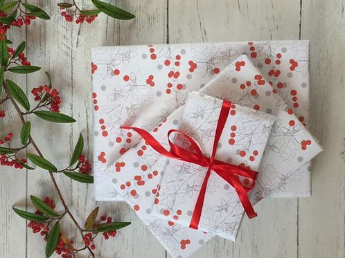 Holly Wrapping paper by Oh hello Shan