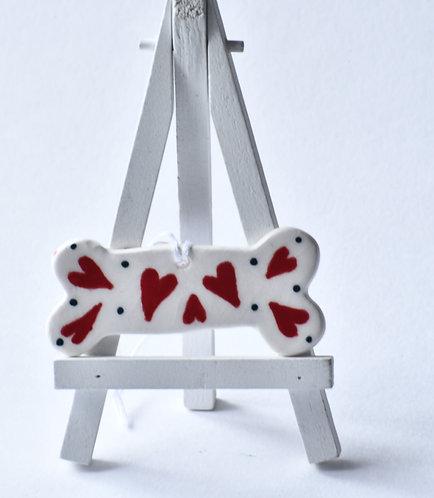 Heart of love Dog Bow