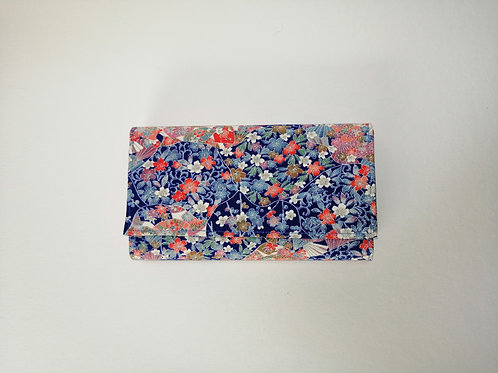 GINKOU PURSE (blue flower)