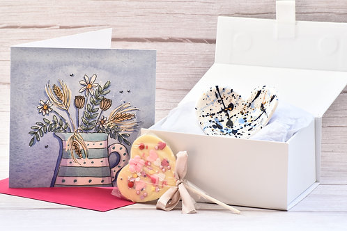Gift Box - Small white magnetic gift box