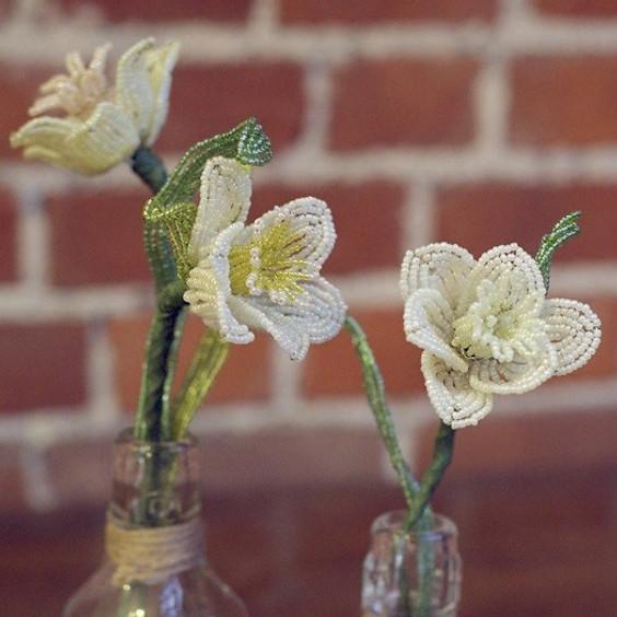 French Beaded Daffodil Workshop