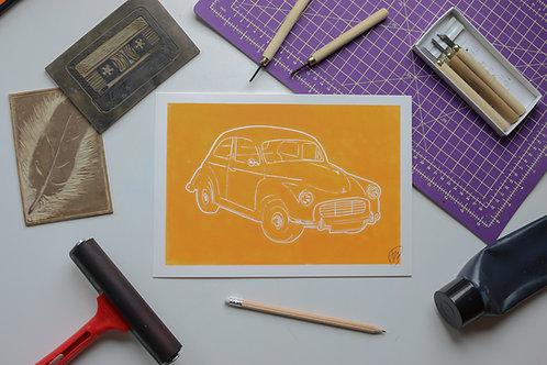 Classic car Morris Minor - Orange