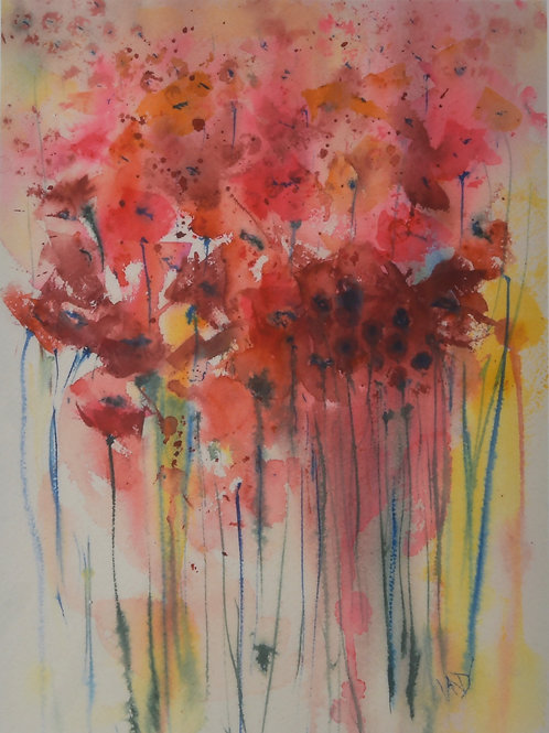 Poppies in Sunlight Print