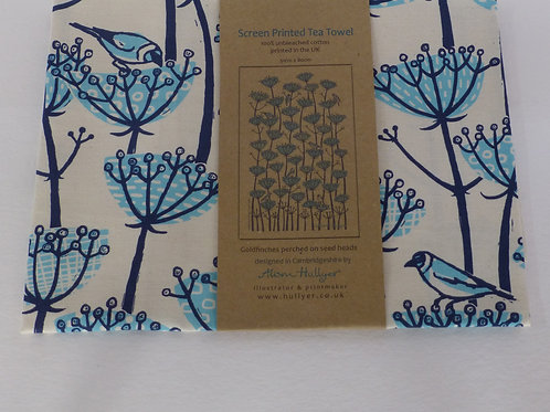 Tea Towel - Goldfinch (blue)