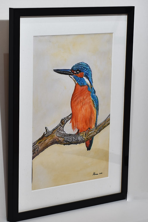 A Kingfisher Waiting Painting
