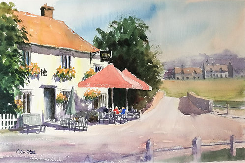 Painting of The Fox in Finchingfield