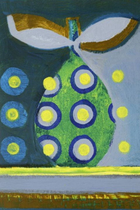 Pear with 12 Yellow Dots - Painting