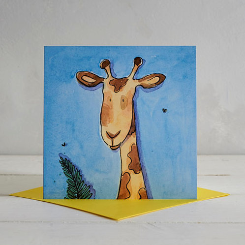 Giraffe Card by Helen Wiseman