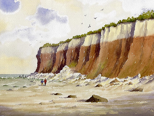 Rocks and Cliffs, Hunstanton - painting