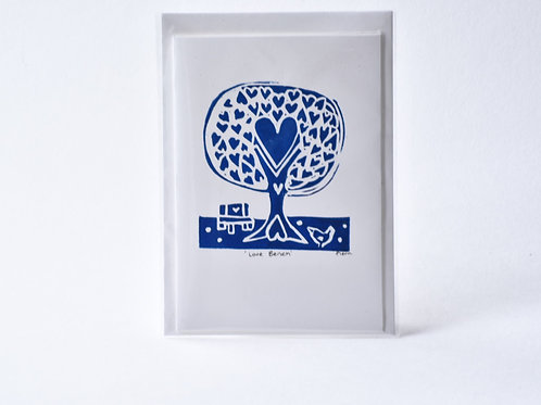 Love Bench (Blue) Greetings Card