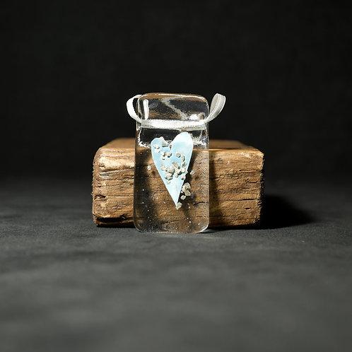 Hanging Hearts Glass Artwork