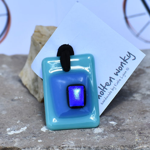 Blue Nugget Pendants by Molten Wonky