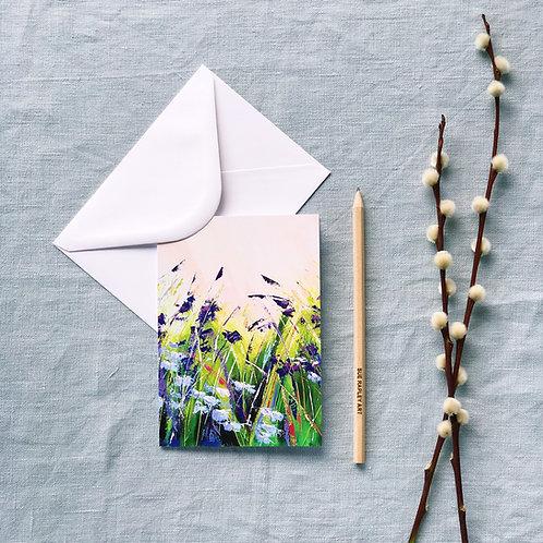 Violet Meadow Greetings Card