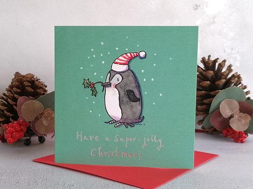 Penguin Christmas Greetings Card