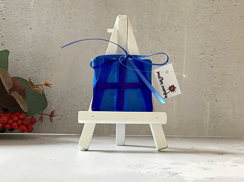 Hanging Pressies Decoration in Blue by Molten Wonky