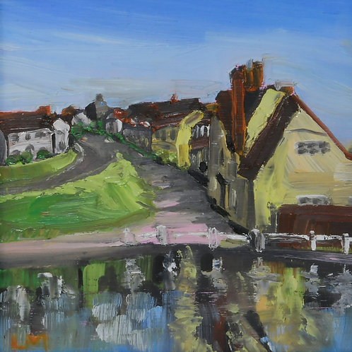 Finchingfield Pond View Painting