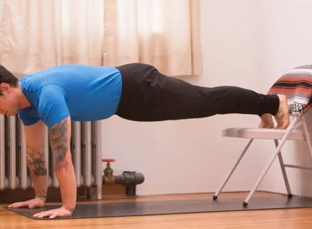 Use a Chair to Progress Toward a Handstand Press!