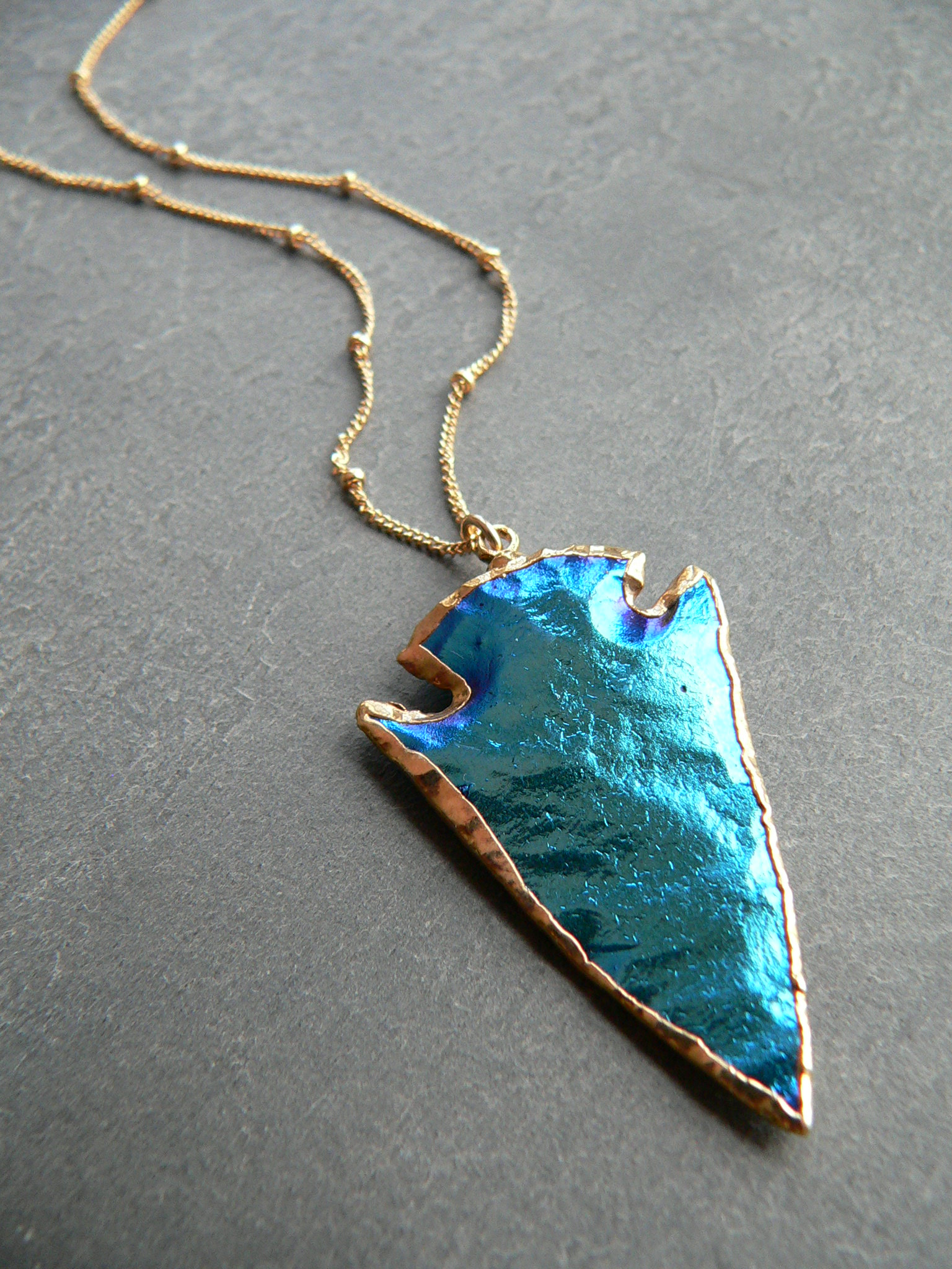 MYSTIC TITANIUM ARROWHEAD NECKLACE