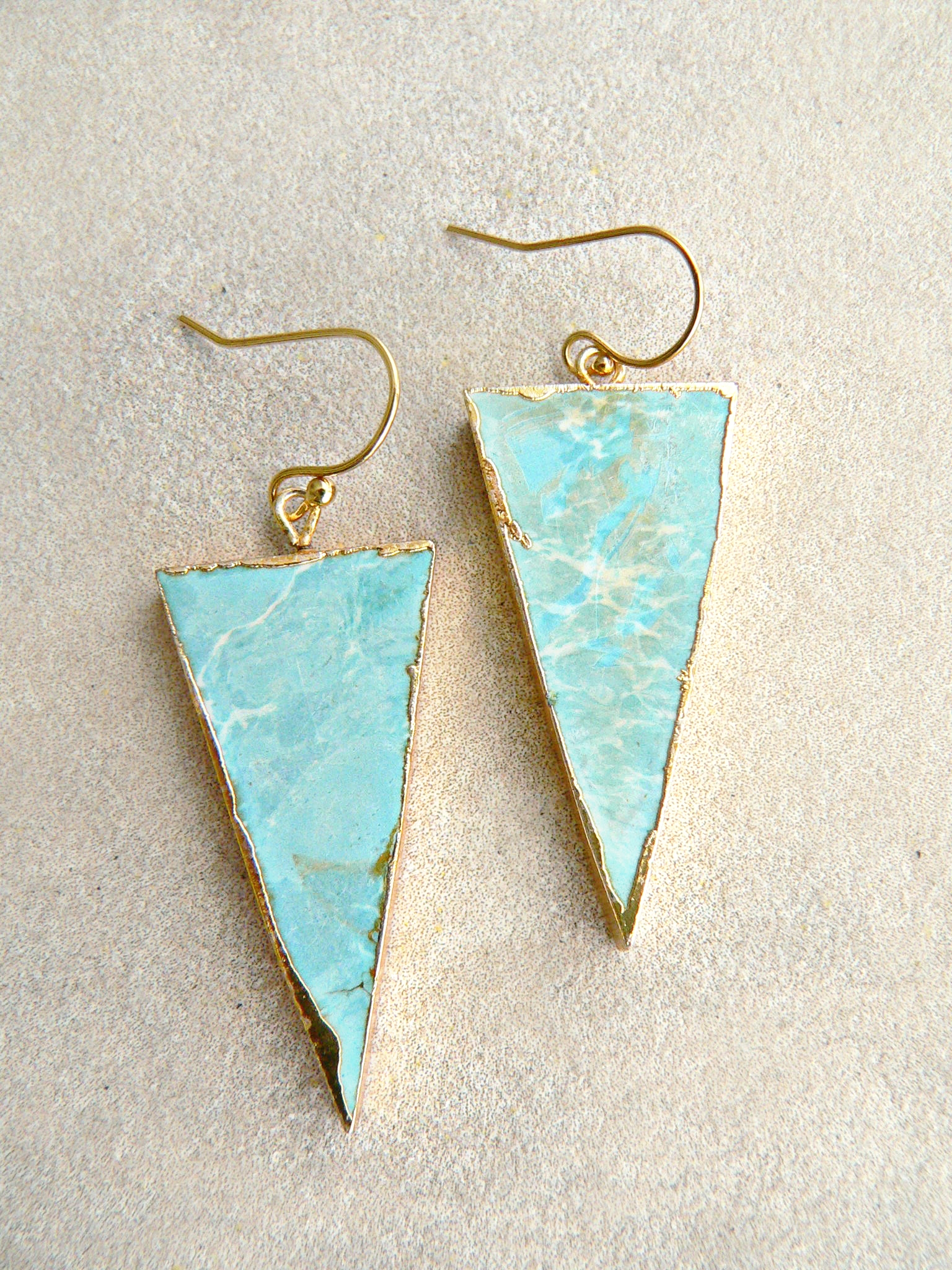 LARIMAR TRIANGLE EARRINGS
