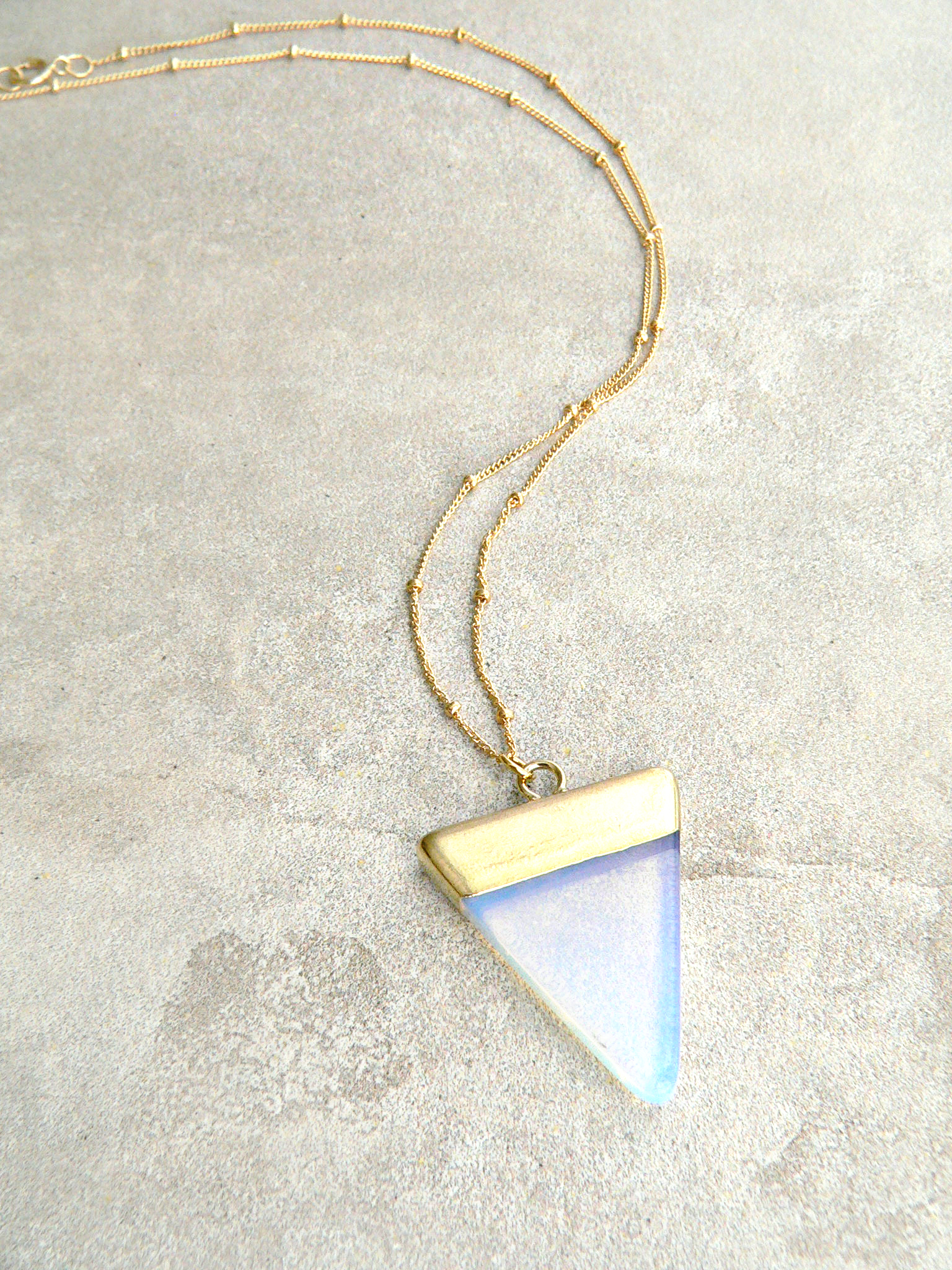 OPALITE TRIANGLE NECKLACE