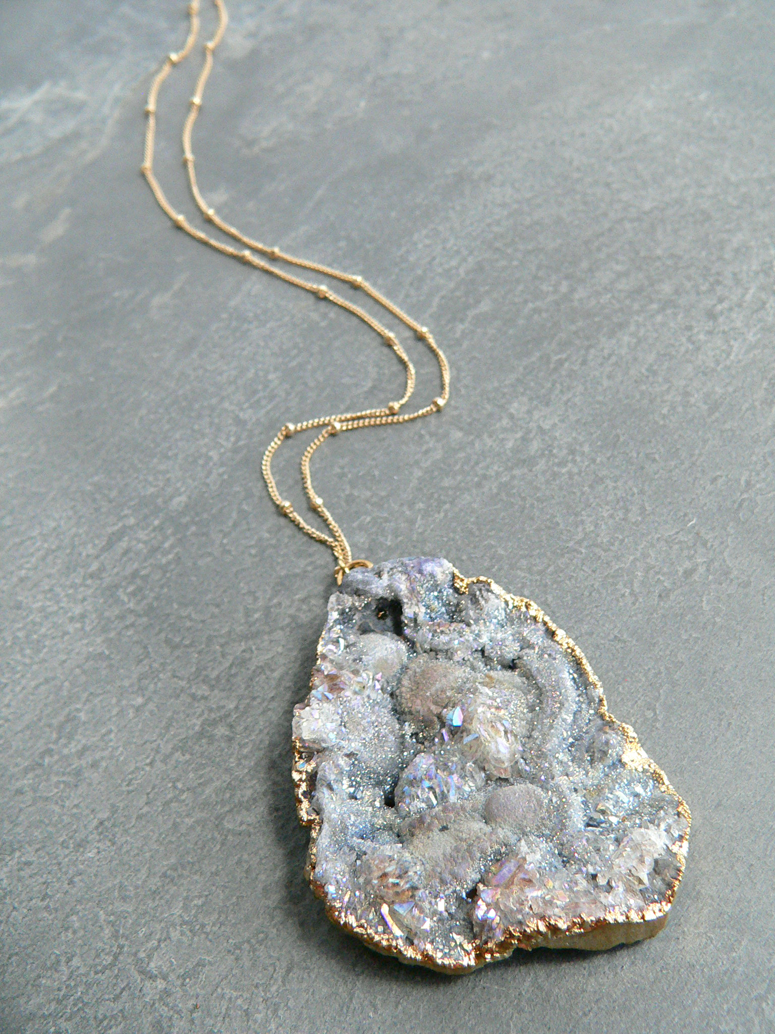 LAVENDER GALAXY DRUZY NECKLACE