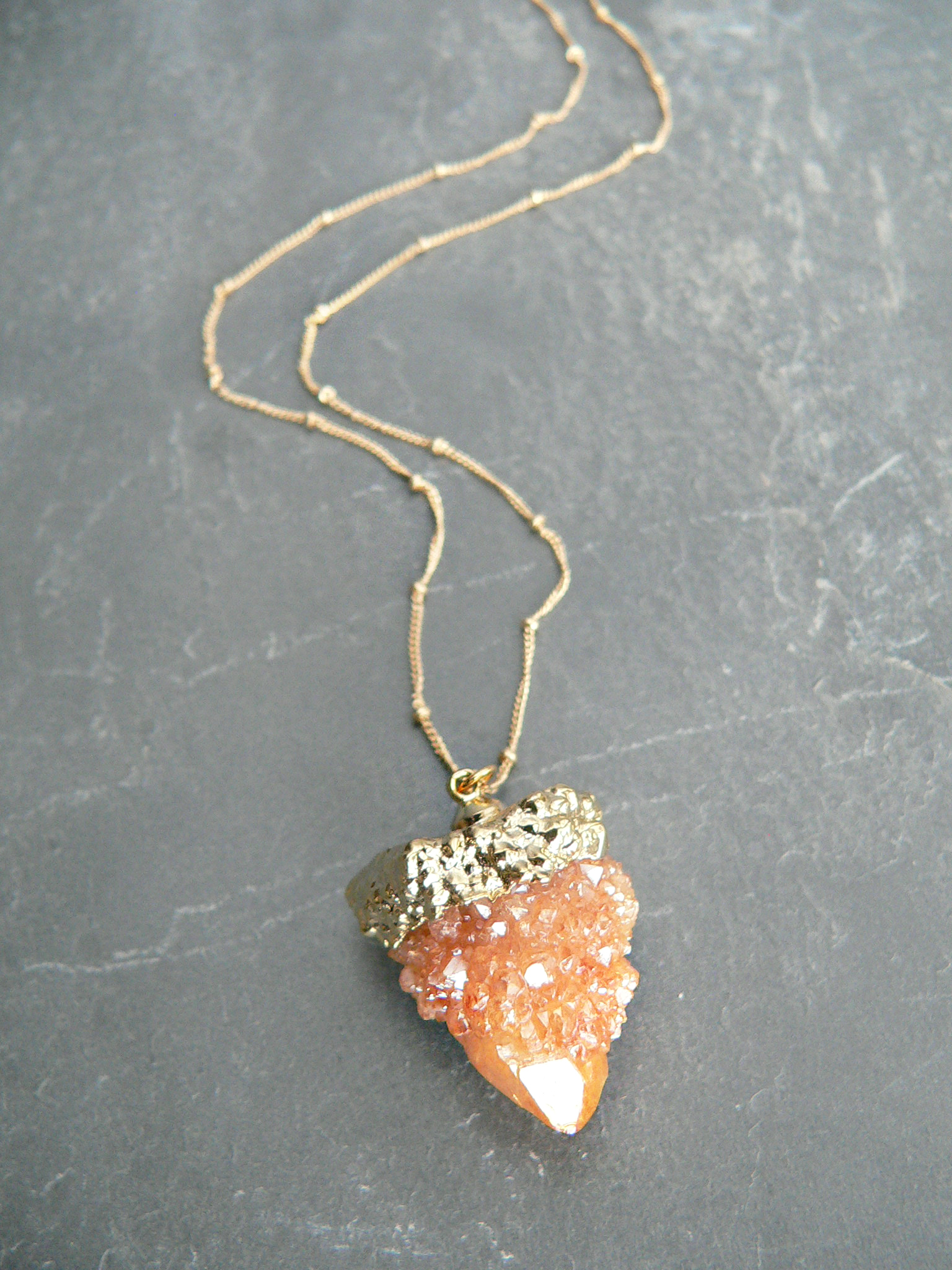 ORANGE SPIRIT QUARTZ NECKLACE
