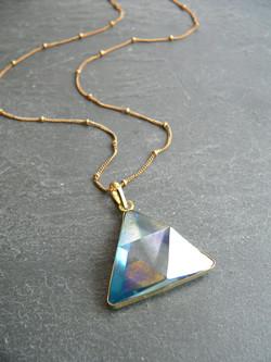 AQUA AURA TRIANGLE PRISM NECKLACE