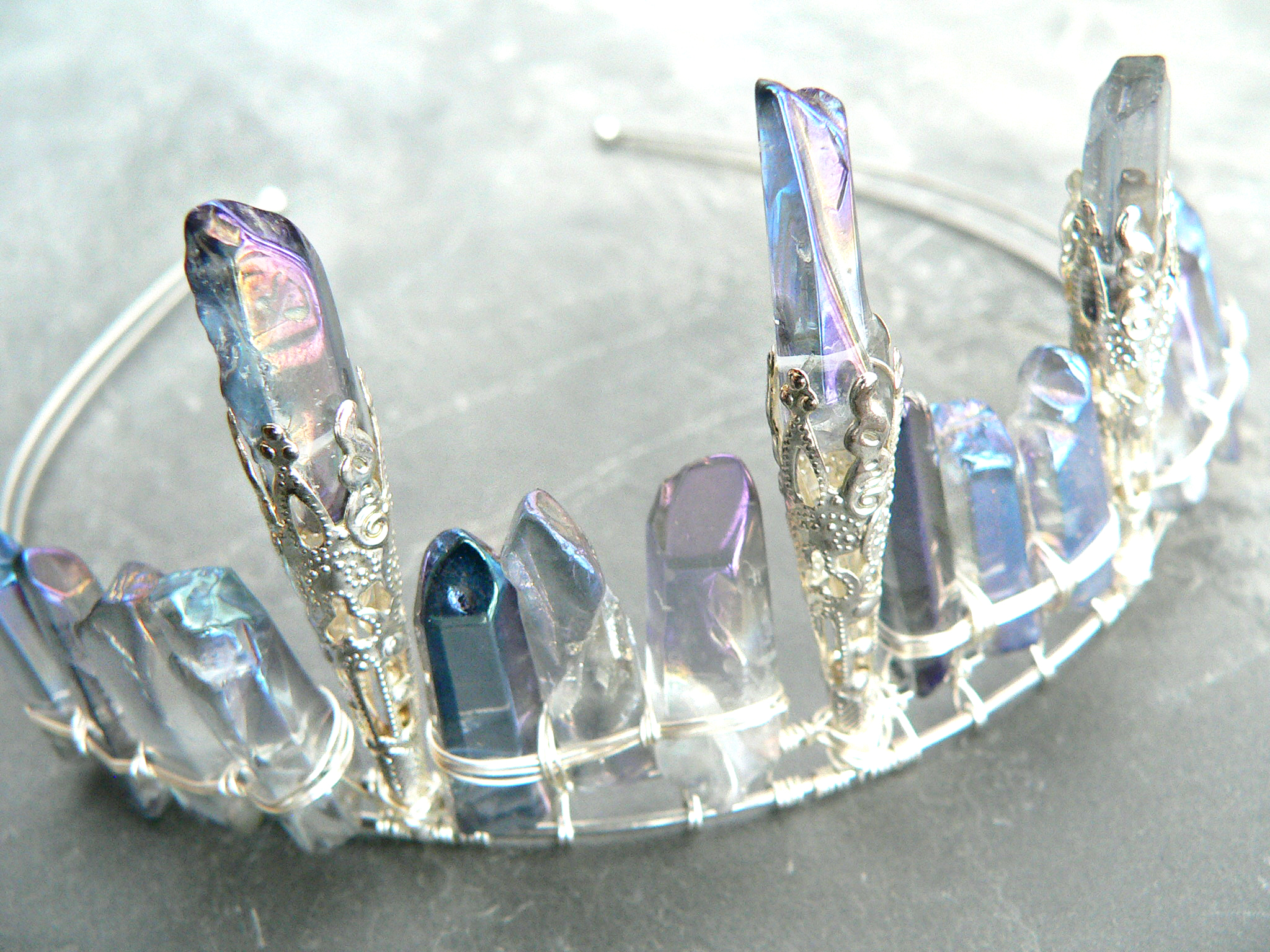 AQUA AURA CRYSTAL CROWN