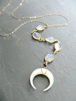 MOONSTONE + MOTHER OF PEARL MOON