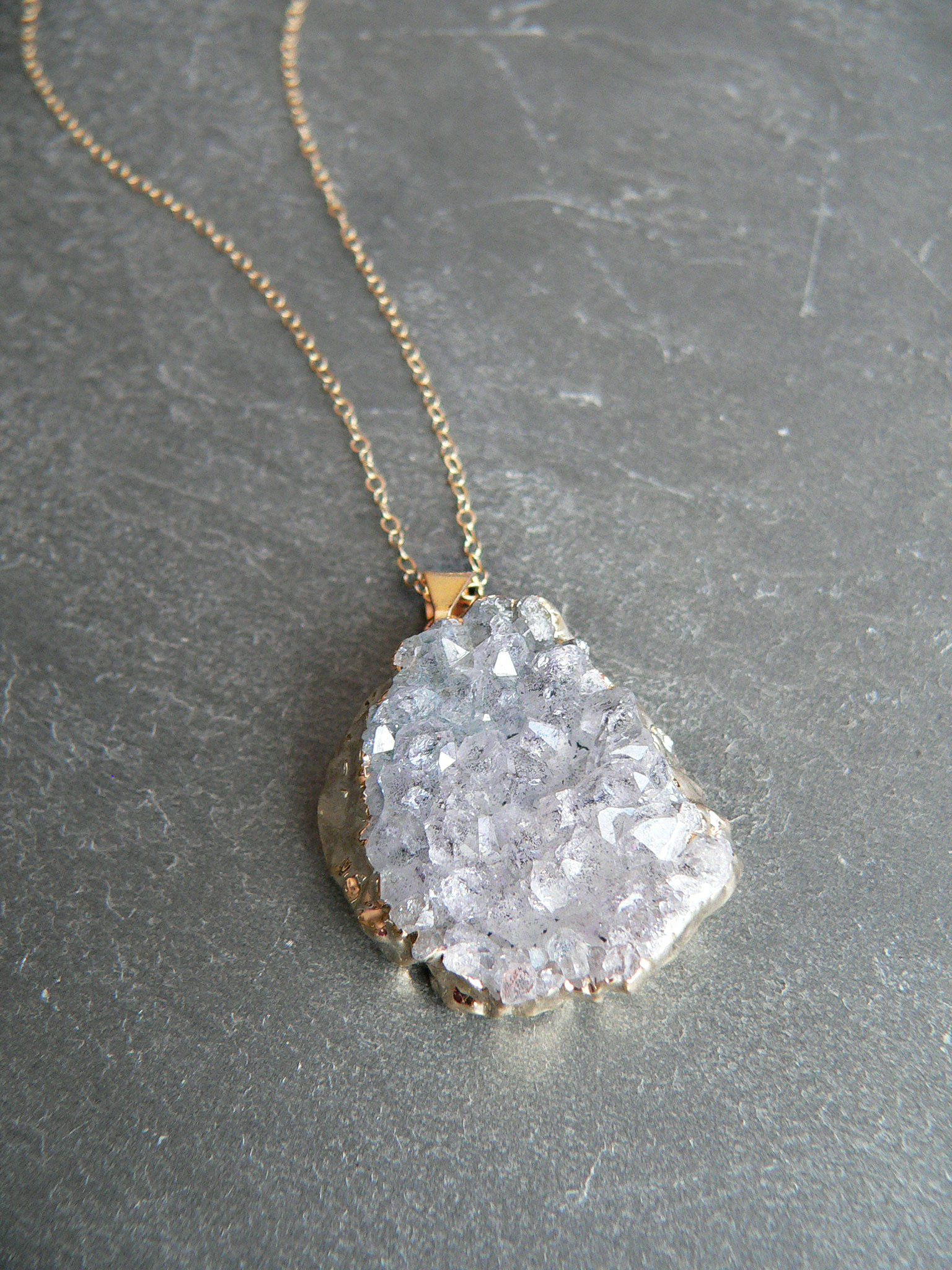 AMETHYST CRYSTAL DRUZY NECKLACE