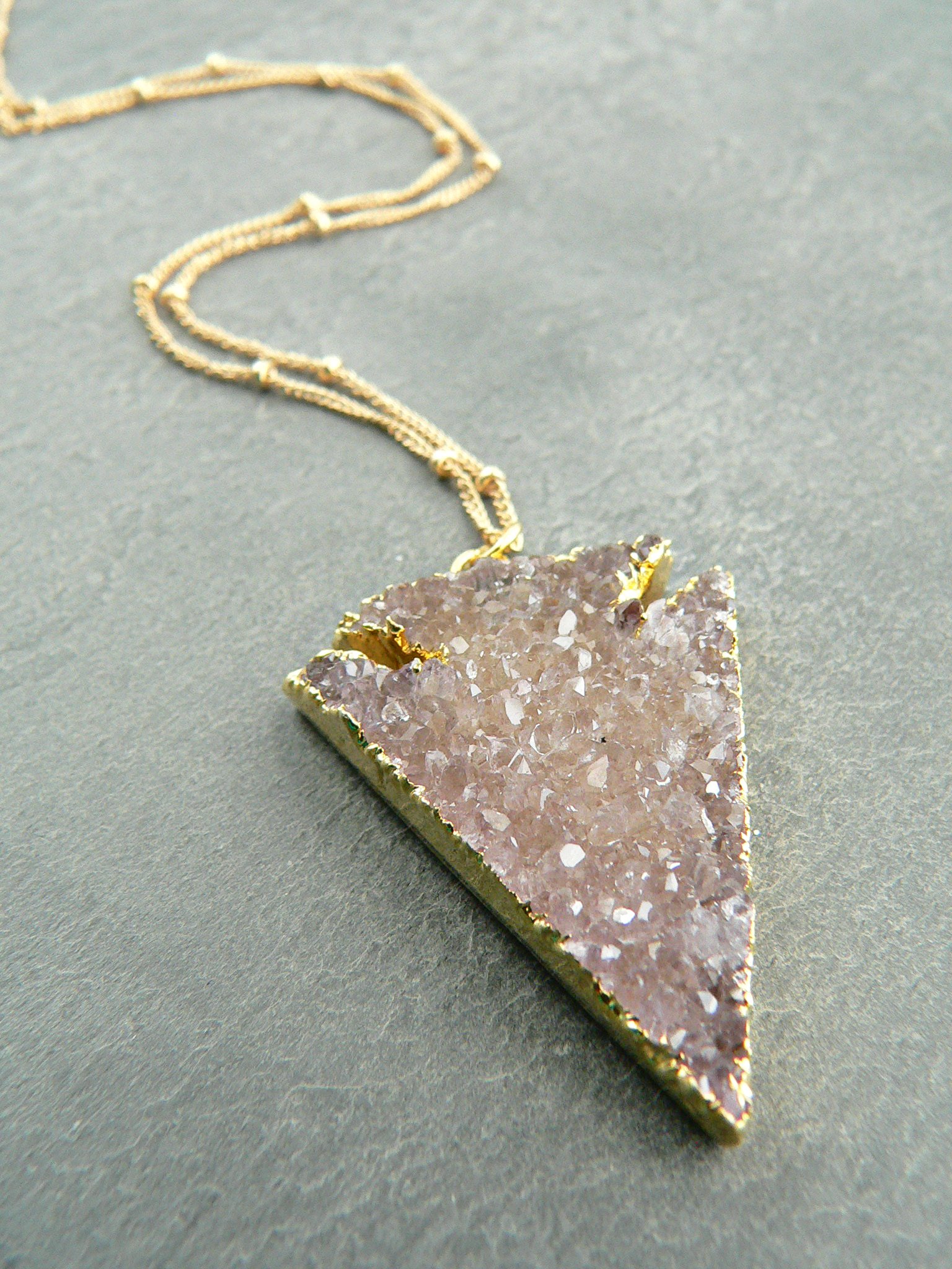 DRUZY ARROWHEAD NECKLACE