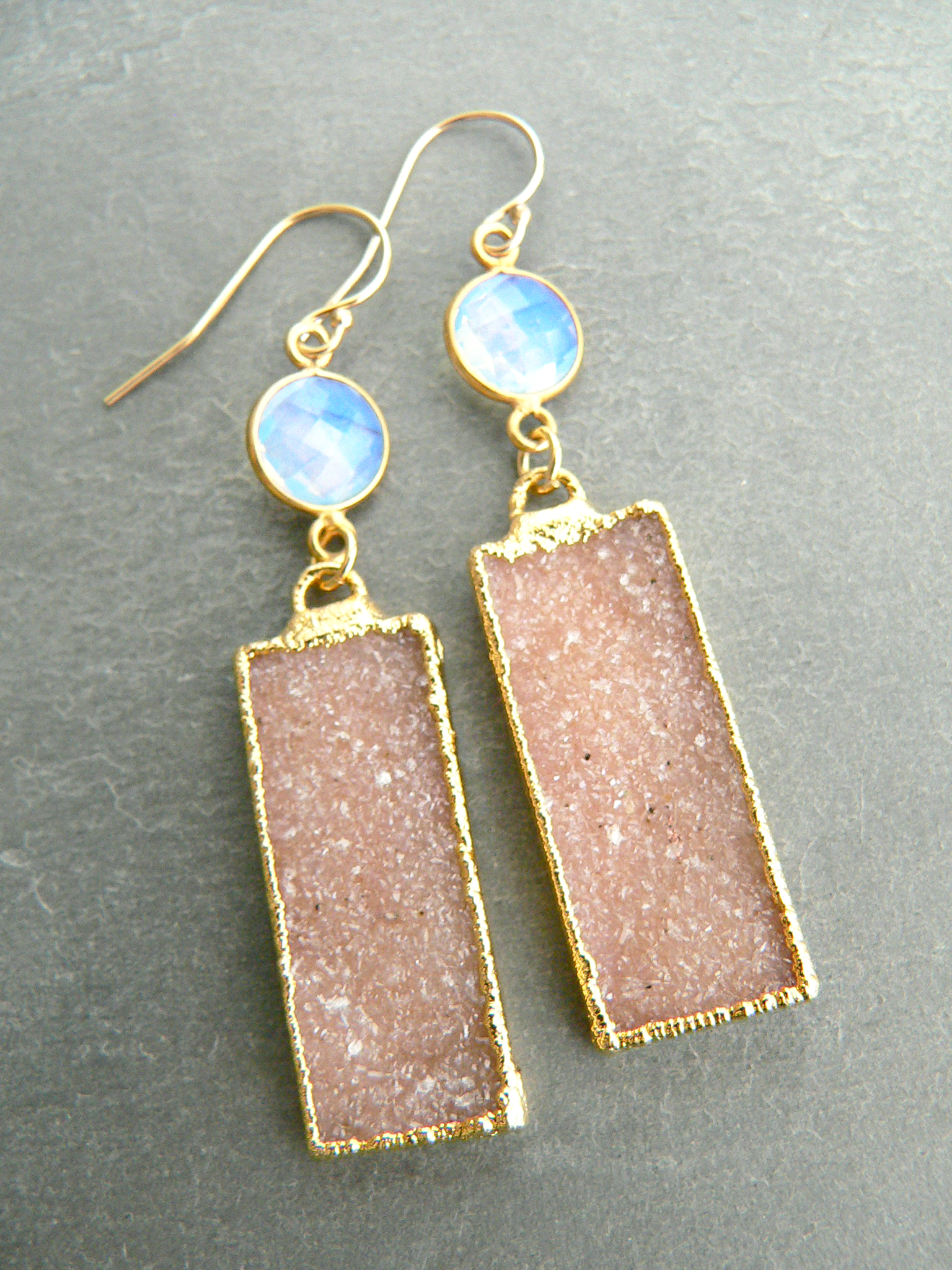 DRUZY + OPALITE EARRINGS