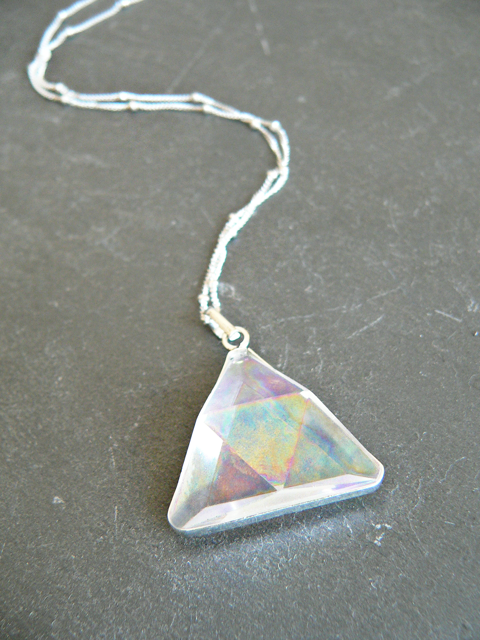 RAINBOW AURA CRYSTAL TRIANGLE PRISM