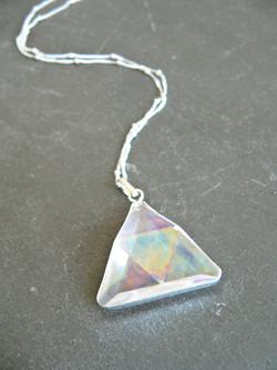 RAINBOW AURA CRYSTAL TRIANGLE PRISM