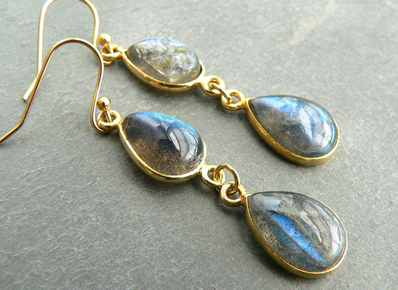 BLUE LABRADORITE EARRINGS