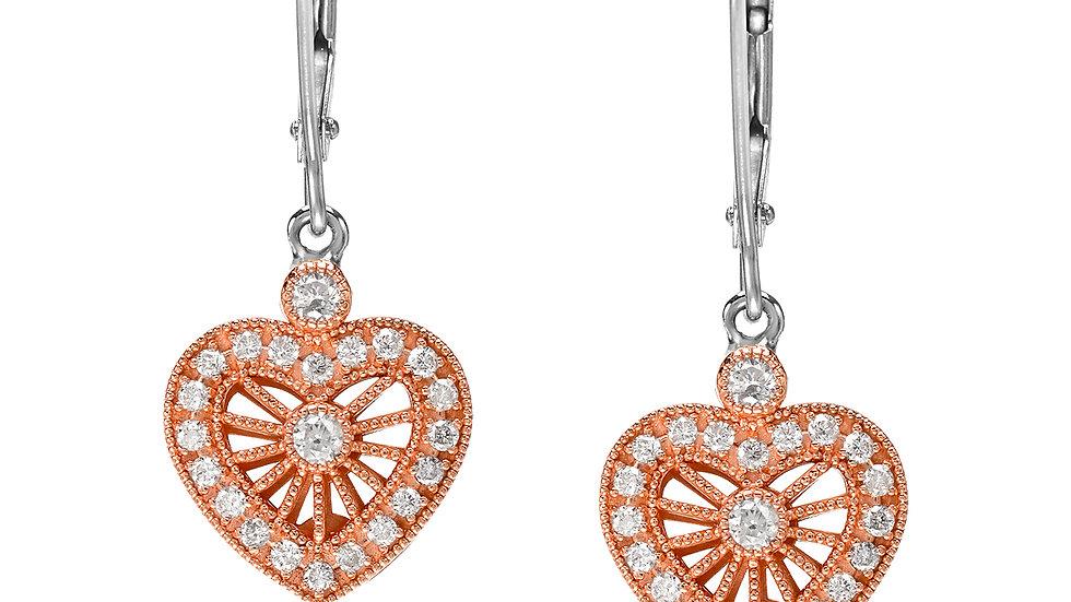 Heart Wire Earrings