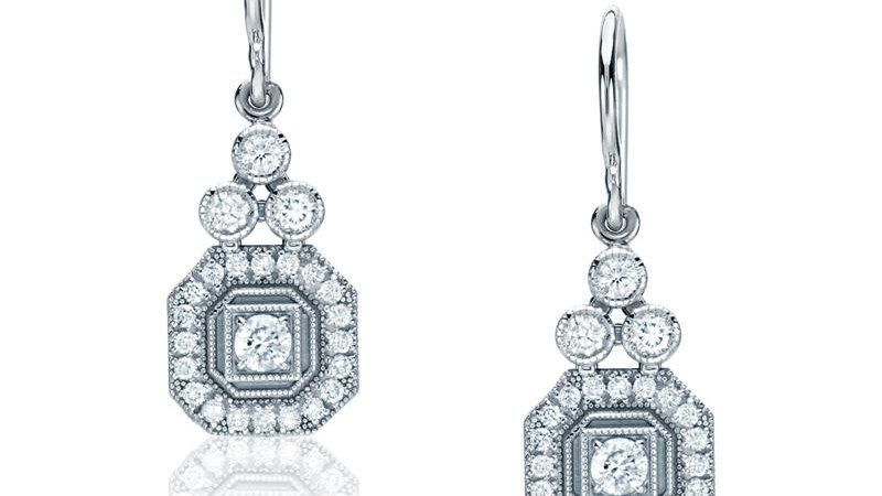 Trio-Emerald Earrings