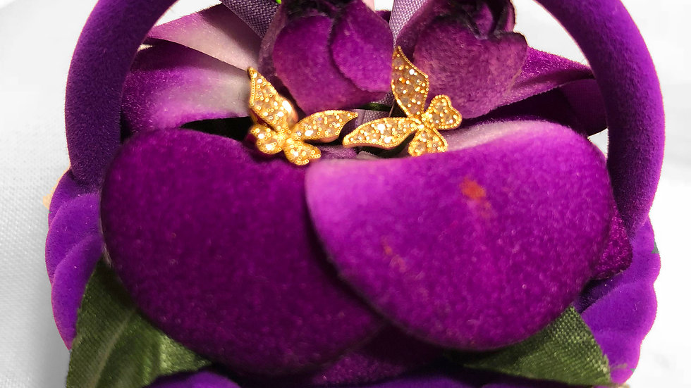 Butterfly Gold Diamond Earrings